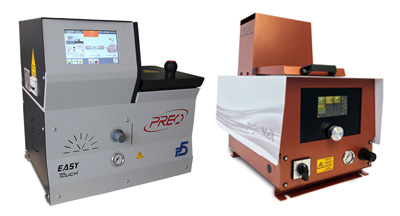 Picture of Preo and UES Hot melt units for the application of hot melt