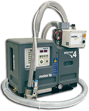 Picture of a Meler automatic hot melt filling system